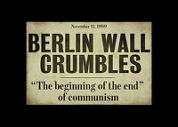 Framed Print - Berlin Wall Crumbles Newspaper Headline (Picture Poster Art)
