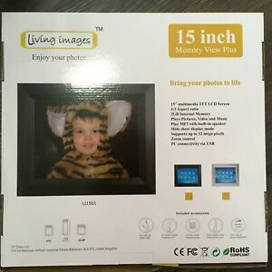 """Large 15"""" Digital PHOTO FRAME Pictures MUSIC VIDEO Living Images MEMORY VIEW PLU"""
