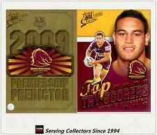 2009 NRL Classic Predictor + Top Tryscorer Card TT1 Antonio Winterstein(Broncos)