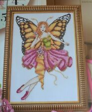 BEAUTIFUL BUTTERFLY FAIRY SAMPLER EMBELLISHED WITH BEADS  CROSS STITCH CHART