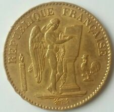 1877 A France 20 Francs Gold Angel