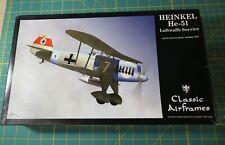 Classic Airframes 1/48 Heinkel He-51 Luftwaffe Service Kit # 4143