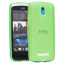 HTC Desire 500 funda bolsa case, funda protectora, estuche, back cover verde Glow