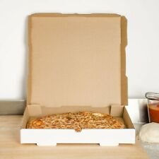 "Plain White 18"" x 18"" x 1 3/4"" Square Size Durable Bakery Corrugated Pizza Box"