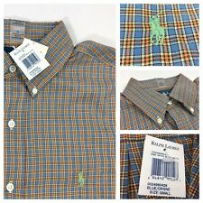 NEW Polo Ralph Lauren Men's Multi Color Plaid Casual Dress L/S Shirt Small S NWT