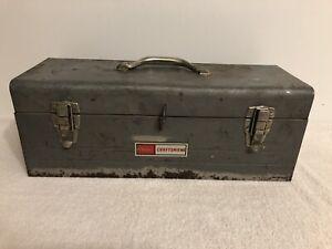 "Vintage Sears Craftsman Tool Box 19""x7.25""x7"""