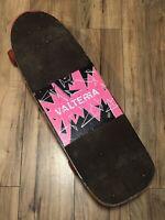 Valterra Shattered Vintage Skateboard Hot Pink 1985 Rare Complete Collectible