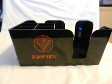 Jagermeister Hard Plastic Utensil, Straw, Napkin Holder, Black with logos