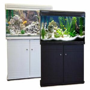 Aquarium Fish Tank & Cabinet Freshwater Tropical Filter LED Lighting 60cm / 80L