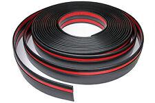 Zierleiste 60mm breit | schwarz rot | flexibel selbstklebend | Meterware