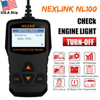 OBD2 CAN Diagnostic Scanner Auto Fault Code Reader Tool MIL