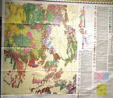 Usgs Nevada Nuclear Test Site Geologic Map Full Color Incredible Detail 1990