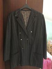 Giacca Cappotto doppio petto - Donna - grigio scuro con dettagli bianchi
