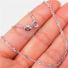 17 inch Rope Chain Necklace H1121 925 Sterling Silver Serpentine 1.5mm wide