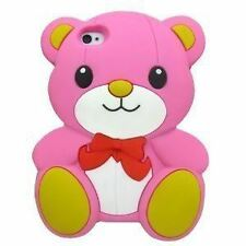 LIGHT PINK Super Cute Bow Bear Soft Silicone Case for Iphone 5 / 5S