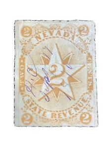 STATE REVENUE Stamp NEVADA 2c DOCUMENTARY TAX Hand/pen Cancel July 17, 1870