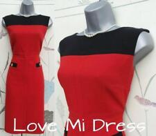 M&S 50's style Red Pencil Wiggle Dress Sz 6 EU34 Petite