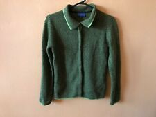 J. McLaughlin Green Angora Wool Blend Button Front Long Sleeve Sweater Size Xs