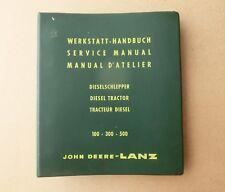 JOHN DEERE LANZ Traktor 300 500  Werkstatthandbuch Service Manual Original 1960