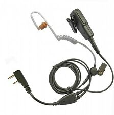 Kenwood TK 2-pin two wire covert earpiece – long, strong cabling