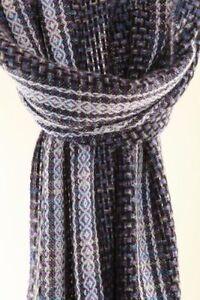 Handgewebter Schal  Winter Tiles Wolle Mohair