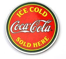 Coca-Cola USA Metallo Magnete Calamita da Frigorifero Coke Ghiaccio Cold rotondo