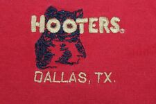 Hooters Dallas Texas Large red henley shirt