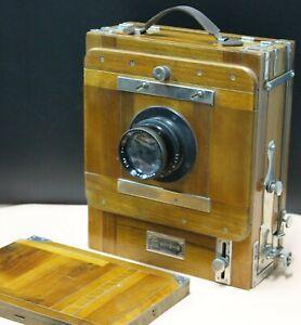 Vintage Soviet FK 13x18cm Wooden Large Format Camera w/ I-51 4.5/210mm lens EXC