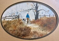 ORIGINAL SIGNED WATERCOLOR BY AMERICAN ARTIST ED GIFFORD