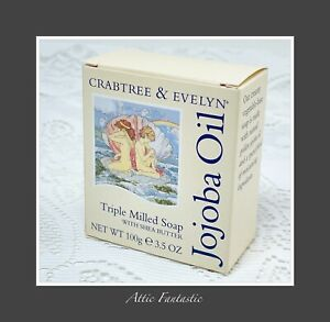 Crabtree & Evelyn Jojoba Oil Triple Milled Soap with Shea Butter 100g 3.5oz BNIB