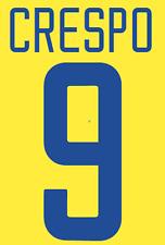 Inter Milan Crespo Nameset Shirt Soccer Number Letter Heat Print Football 3 02