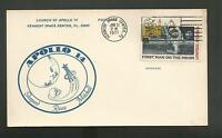 LAUNCH OF APOLLO 14 SHEPARD MITCHELL ROOSA JAN 31,1971   KSC  POSTCARD