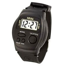 5pcs Wholesales Lot English Talking Watch LCD sports wristwatch to Elderly Blind