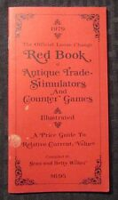 1979 Red Book Price Guide of ANTIQUE TRADE STIMULATORS & VG+28 pgs Stan Wilker