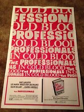 IN COLD BLOOD / THE PROFESSIONALS Double Feature 1970 ONE SHEET MOVIE POSTER