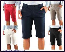 Bermuda da uomo cotone pantaloncini pantaloni corti slim short jeans 50 52 54 56