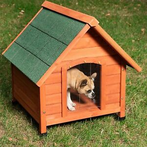 Robust Dog Kennel House WeatherProof Easy Clean Wooden Outdoor Winter Pet NEW