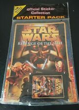 Star Wars Revenge of The Sith  Sticker Collection Starter Pack Merlin New 2005