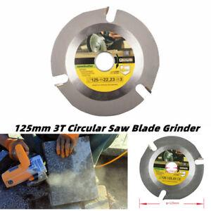 125mm 3T Circular Wood Carving Cutting Disc Saw Blade Multitool  Grinder Carbide