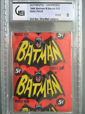 1966 Batman Color Photo Bat Laffs N/S Wax Pack GAI 9 Mint **Authentic** Unopened