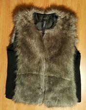 Style & Company City Style Faux Fur Vest SZ L