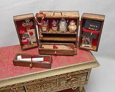 Casa De Muñecas En Miniatura Artesanal Hecho a Mano Ala Puerta Gabinete de Kit de cazador de vampiros