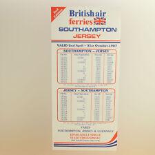 Britannico Aria Ferries E Guernsey Airlines Timetable (tabella orari) Aprile to