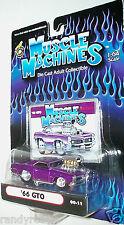 MUSCLE MACHINES 2000 1/64 DIECAST PURPLE '66 PONTIAC BLOWN GTO 00-11 RARE HTF