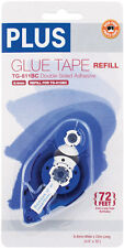 PLUS Glue Tape Adhesive Permanent Refill Cartridge 1/3
