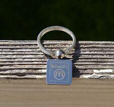 McDonald's Fast Food Silver Tone Metal Keychain Key Ring