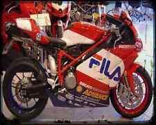Ducati_999R_Fila A4 Metal Sign Motorbike Vintage Aged