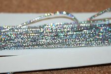 Fly Tying Fine Holographic Silver Braid 2mm flat; 1+mm  round AS REVIEWED FFFT