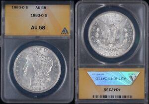 1883-O Morgan Silver Dollar - ANACS AU58