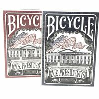 Bicycle U.S. Presidents Playing Card Deck Standard Poker, 2-Pack; 1 Red, 1 Blue